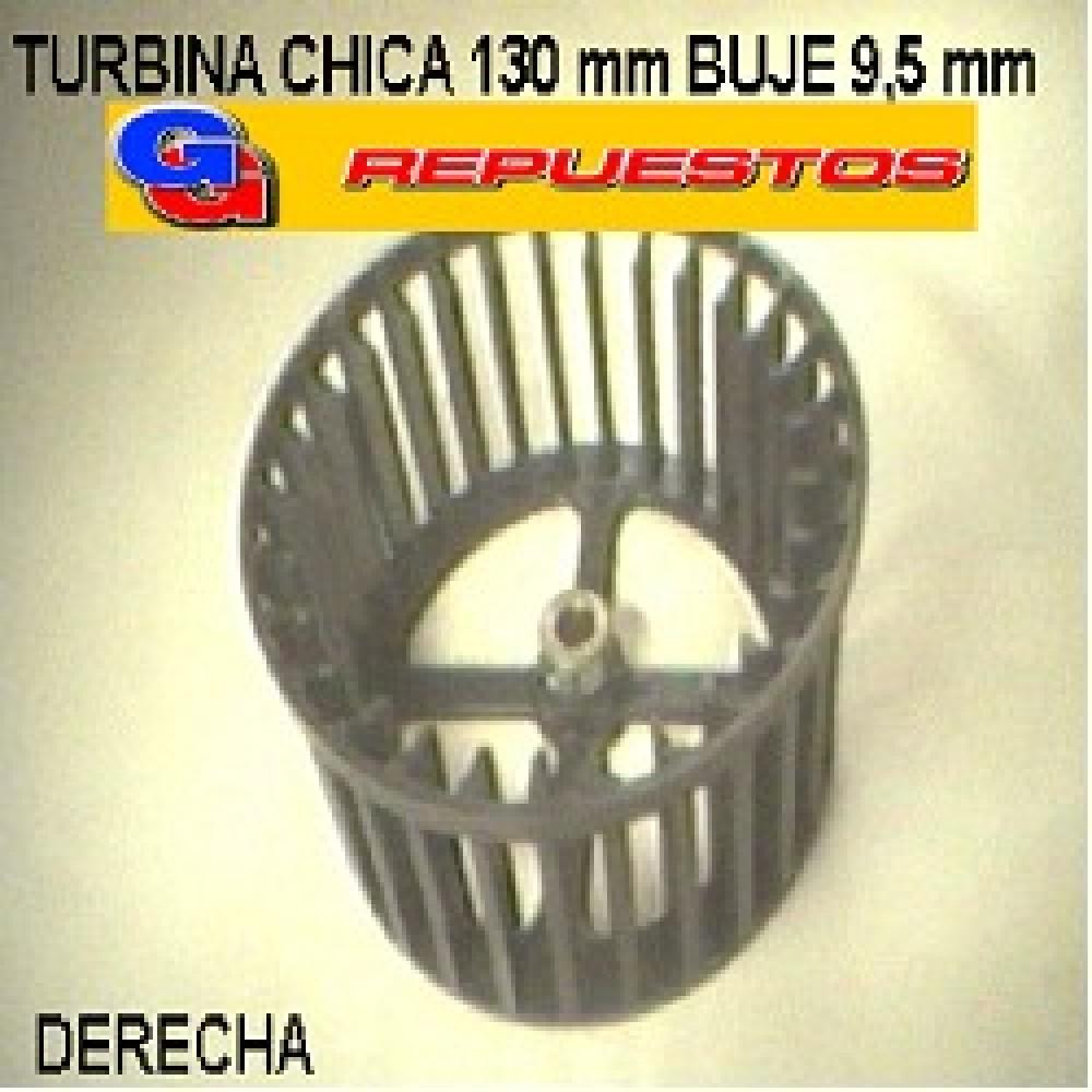 TURBINA PURIFICADOR 130 mm CHICA BUJE 9,5mm DERECHO ALTO 6.5 cm