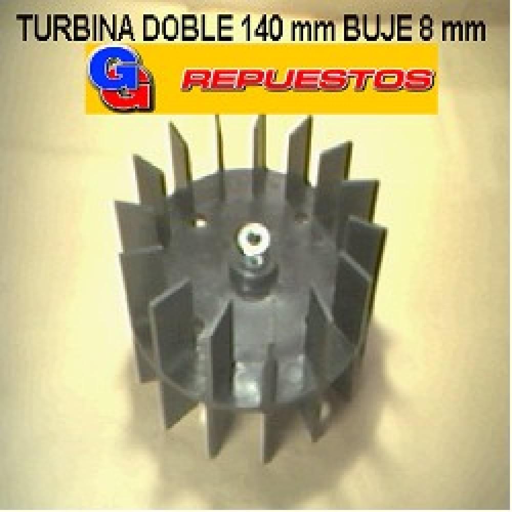TURBINA PURIFICADOR 140 mm DOBLE BUJE DE 8 mm ALTO 8.5 cm