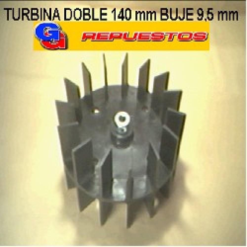 TURBINA PURIFICADOR 140 mm DOBLE BUJE DE 9,5 mm ALTO 8 cm
