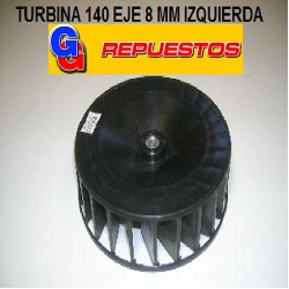 TURBINA PURIFICADOR 140 mm SIMPLE BUJE 8 mm IZQUIERDA ALTO 5 cm