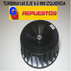TURBINA PURIFICADOR 140 mm SIMPLE BUJE 9.5 mm IZQUIERDA.
