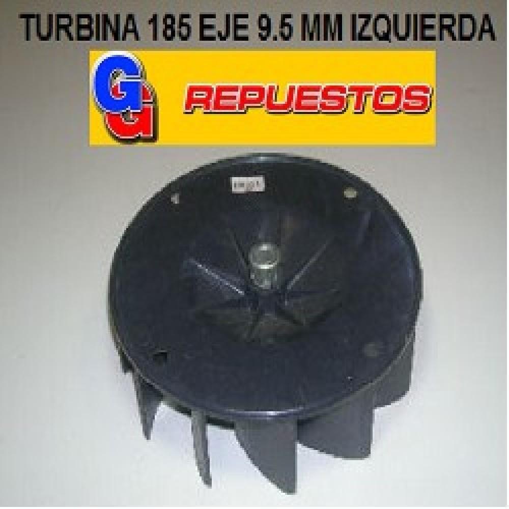 TURBINA PURIFICADOR 185 mm ABIERTA EJE 9.5 mm IZQUIERDA ALTO 5.5 cm