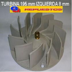 TURBINA PURIFICADOR 195 mm C/TCA DE BRONCE IZQUIERDA .8mm