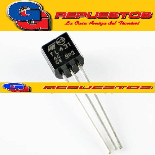 KA431 / TL431 / TL431CLP /  TL431ACLP / LM431 / AS431 / TL431ACZ CIRCUITO INTEGRADO ZENER PROGRAMABLE 2.5VA36V / 100MA / 0.22R / +-2%