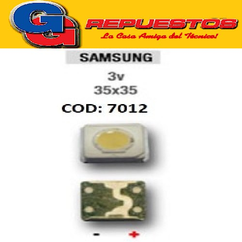 LED PANTALLA 3V 35X35 35X37 BACKLIGHT SAMSUNG
