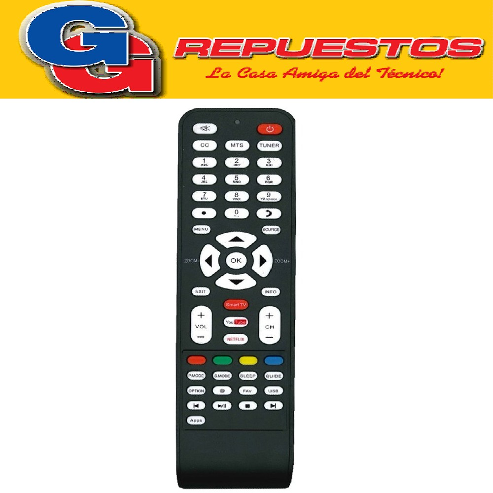 CONTROL REMOTO LED TCL SMART NOBLEX HITACHI ILO 3D SMART = 3852
