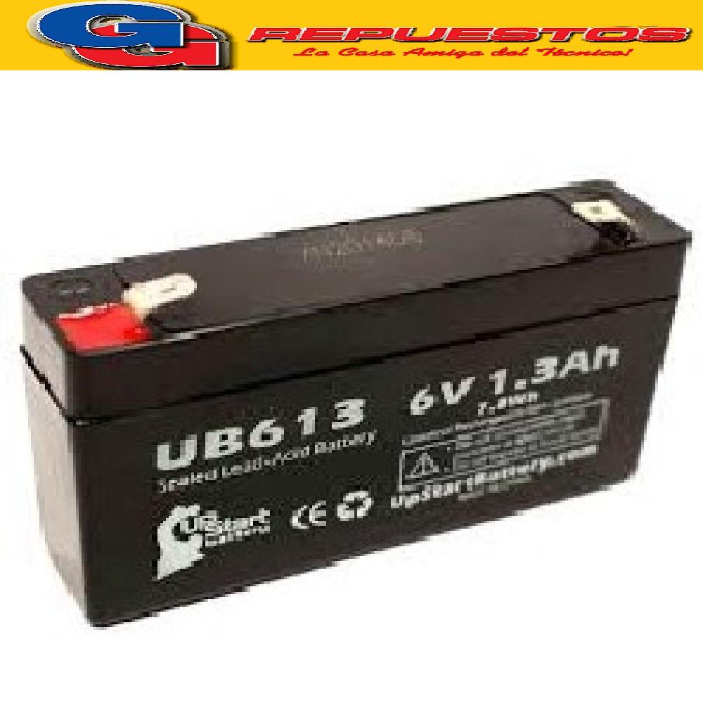 BATERIA ELECTROL.ABSORBIDO 6V-1.3AH LUZ DE EMERGENCIA BAT0613 JA613