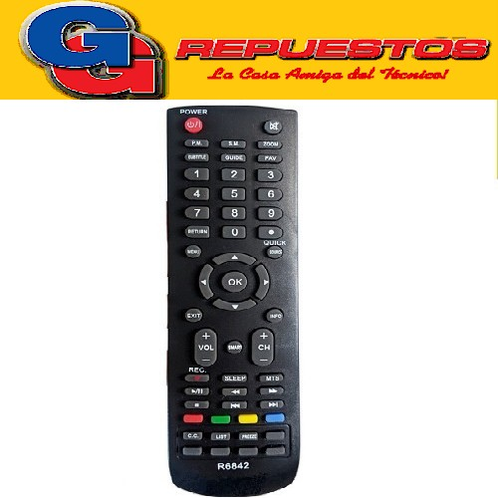 CONTROL REMOTO LED LCD  HITACHI SMART 3842=3805=3589 =R6805=R6589= 440LCD=3840 R6842