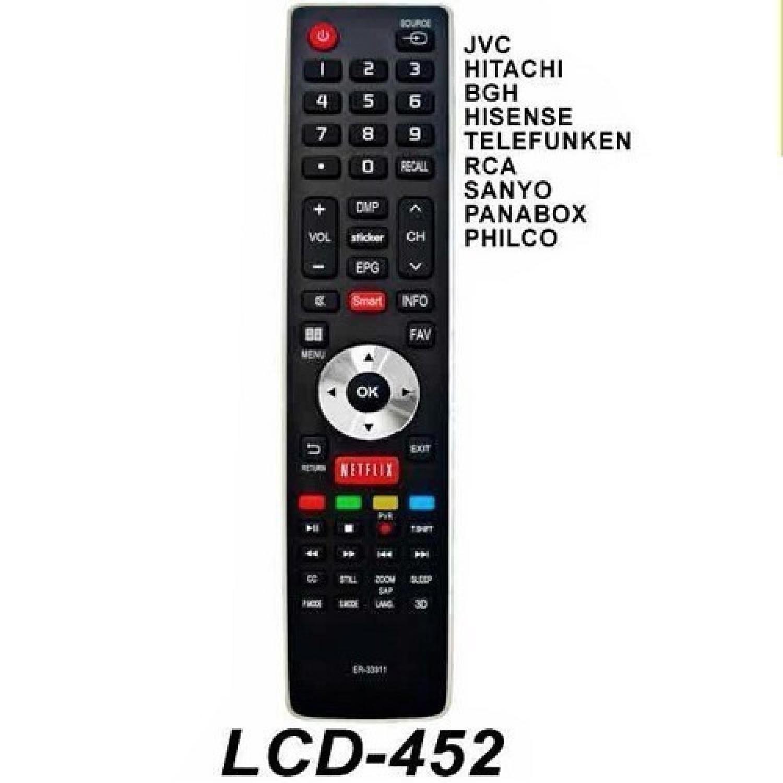 CONTROL REMOTO LED BGH SANYO/JVC NETFLIX 3843 R6843