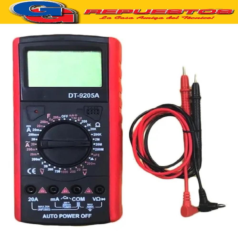 TESTER DIGITAL DT9208A CON CAPACIMETRO HASTA 20 uf Y MIDE TEMPERATURA