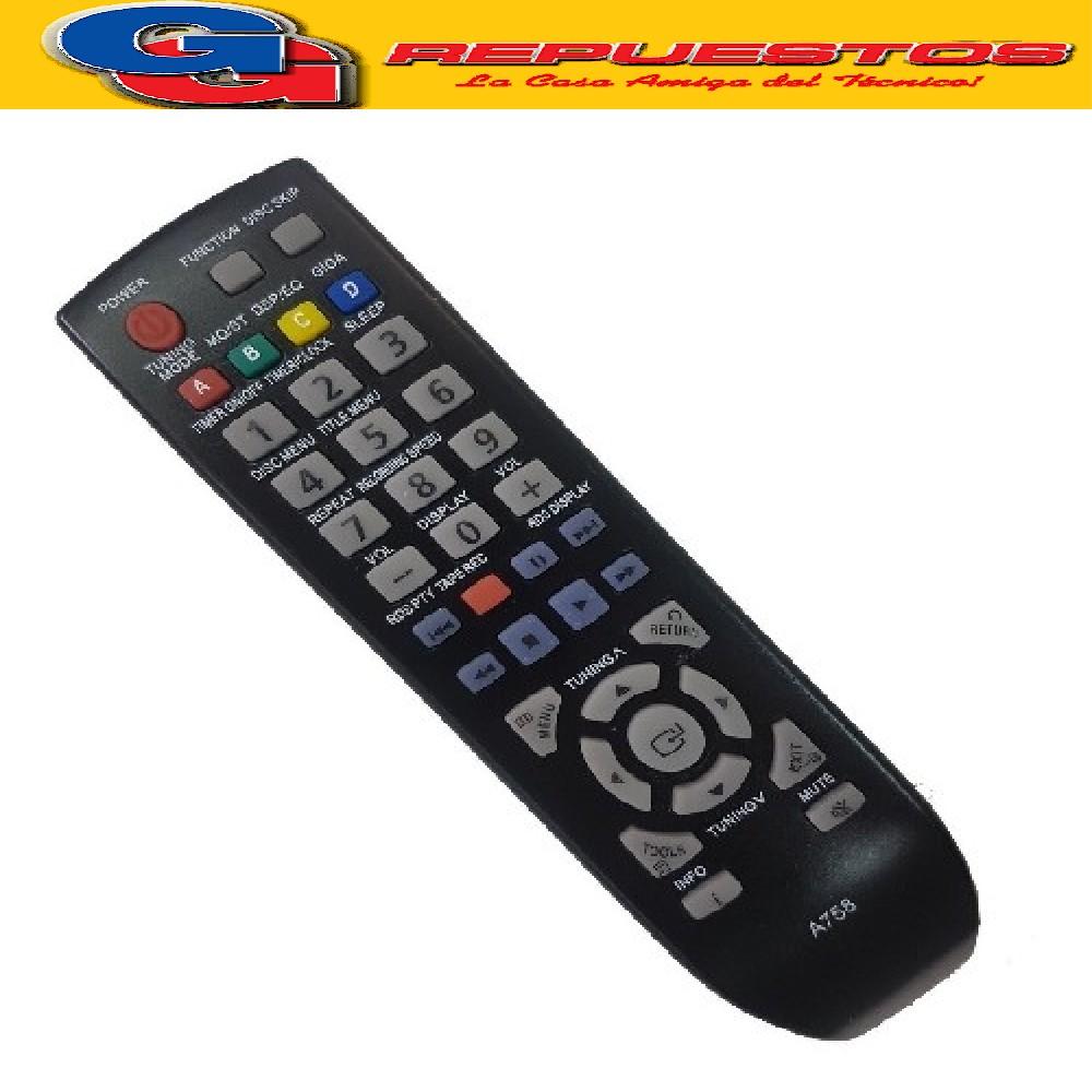 CONTROL REMOTO AUDIO SAMSUNG A758 TODOS