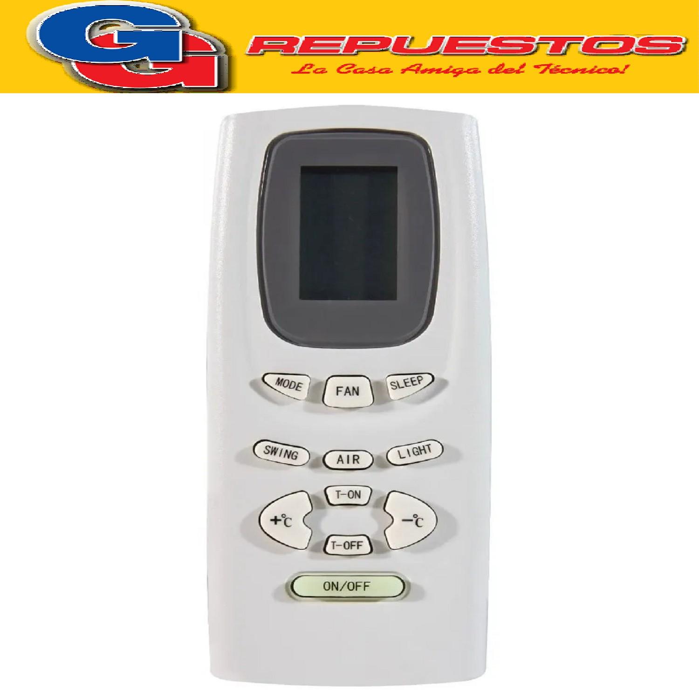 CONTROL REMOTO AIRE ACONDICIONADO SPLIT AR808 NOBLEX SANYO PHILCO