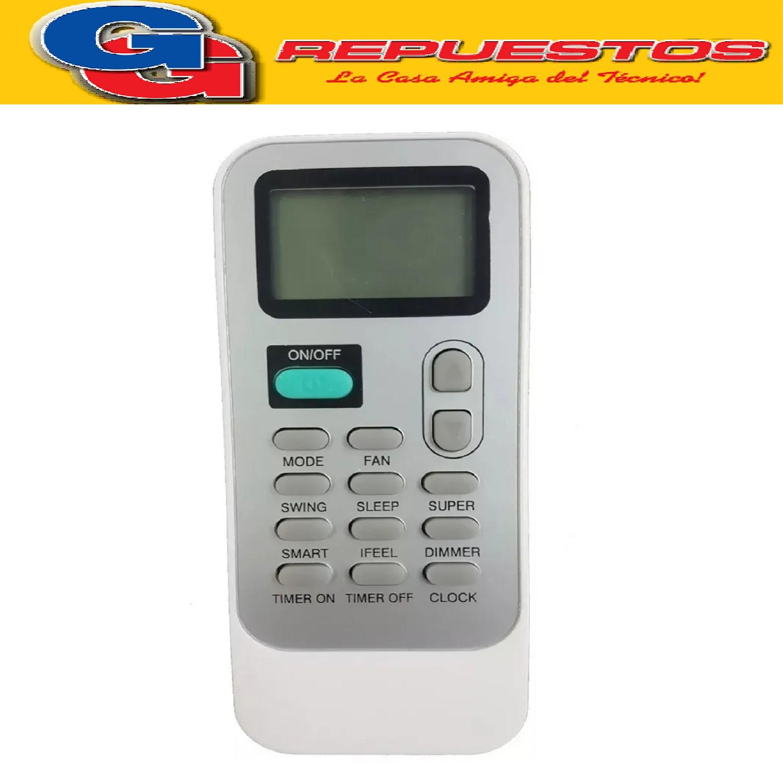 CONTROL REMOTO AIRE ACONDICIONADO SPLIT AR810 HISENSE COOLTIME ALASKA SIGMA WHIRLPOOL PHILCO DG11J1-01 AR810