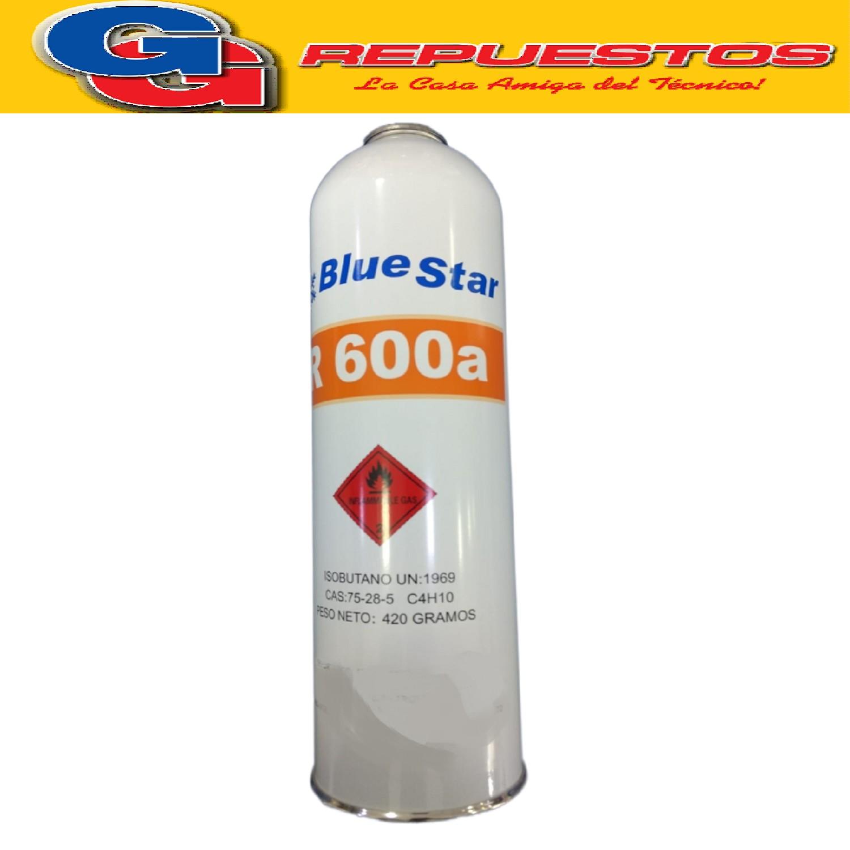 GAS R600A 480g BlueStar LATA ENVASE DESCARTABLE