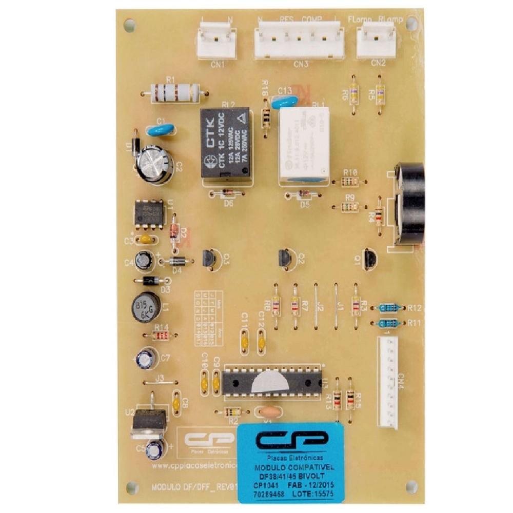 PLAQUETA CONTROL HELADERA ELECTROLUX DF38-DF41-DF45-DFW45 PLACA ELECTRONICA DE POTENCIA T/ORIGINAL CP BRASIL Cod.Origen: 80021573 (ELECTROLUX)  64800182 (ELECTROLUX) Cancelado Produttore: CP Electronica Brasil (CP1041 / CP-1041 / CP 1041) 7210040