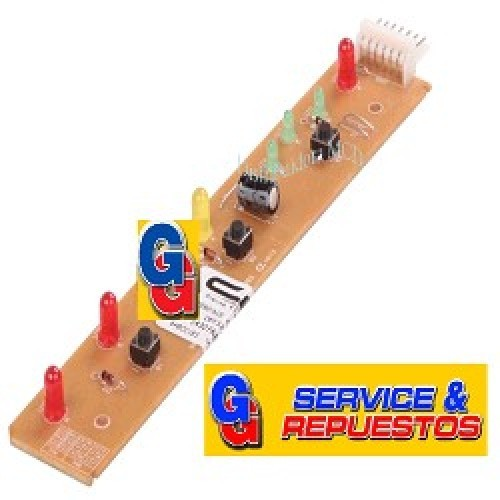 DISPLAY PLAQUETA ELECTROLUX DFF37-DFF40-DFF44 (T/ORIGINAL CP BRASIL) PLACA DE PANEL DE PUERTA HET Se debe cambiar el modulo (cod.70289(Nueva Version)