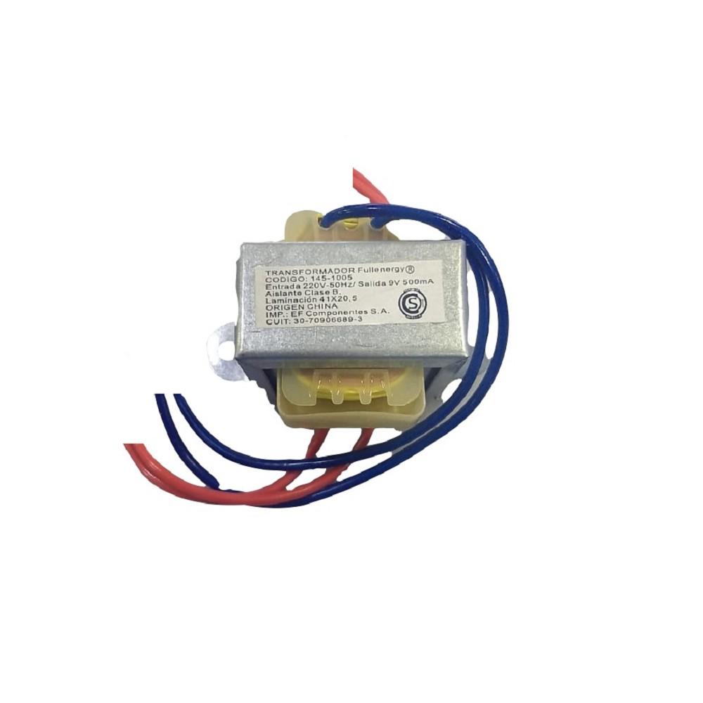 TRANSFORMADOR 9V 0.5A 500MA