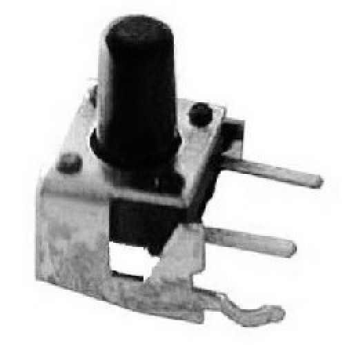 TACT SWITCH 2 P. 90o VERTICAL* 7mm