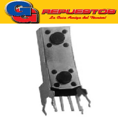 MICROSWITCH TACT SWITCH DOBLE BAJO  4 P. 90º VERTICAL (SW063)