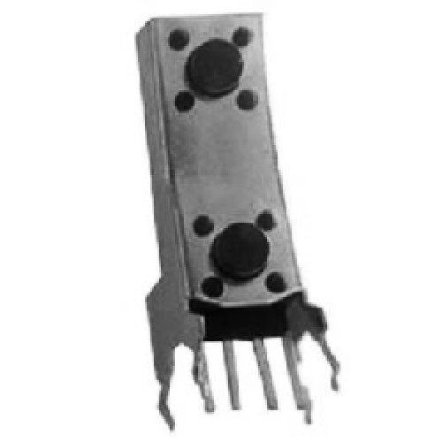 TACT SWITCH DOBLE BAJO  4 P. 90º VERTICAL (SW063)