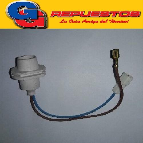 PORTALAMPARA COMPACTO PVC PARA HELADERAS