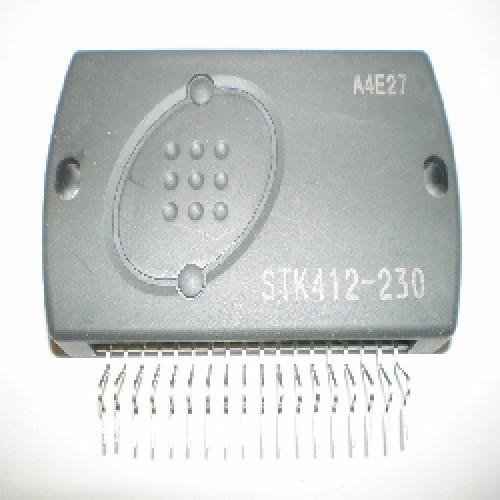 STK412-230 CIRCUITO INTEGRADO 2-CH AF Power Amp,PO 100W,THD 0.8%,VCCHmax ±75V, VCCLmax ±43V, RL8Ohm,Power supply switching (class H)
