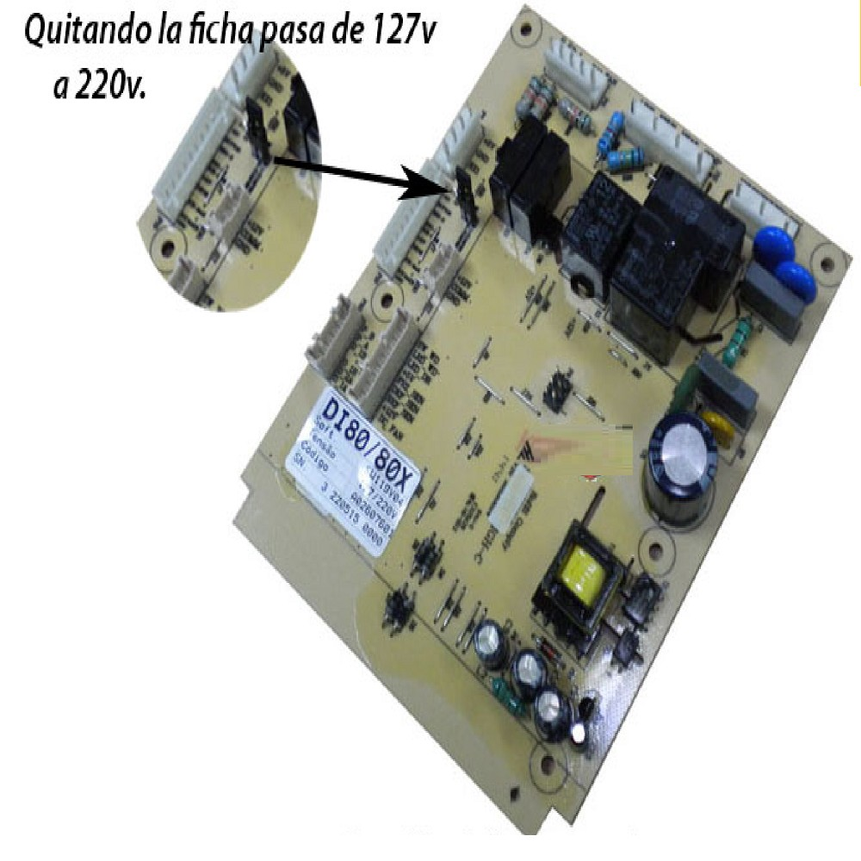 PLAQUETA CONTROL HELADERA  ELECTROLUX M/NUEVO DFI80- DI80X (ORIG) MODELO NUEVO REEMPLAZADO xA02 5205959 (ELECTROLUX) A02607601 (ELECTROLUX) PLACA NUEVA DI80X - DT80X EX 64501726 A02026801 (ELECTROLUX) 64501726 (ELECTROLUX) PLACA DE POTENCIA DFI 80/