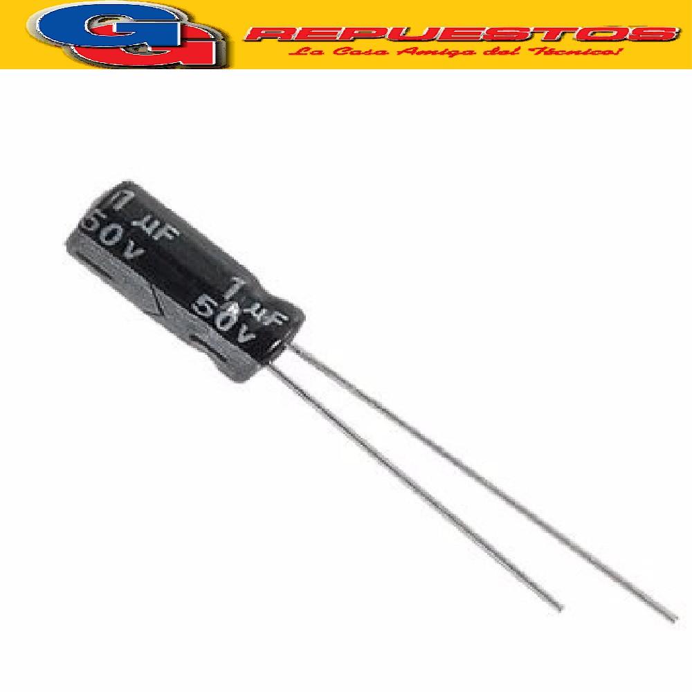 CAPACITOR ELECTROLITICO 1uFX50V Rad. (5x11mm) 105ºC