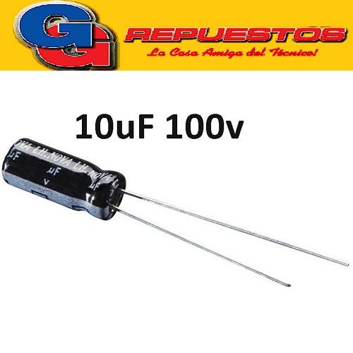 CAPACITOR ELECTROLITICO 10uFX100V Rad. (5x11mm) 105ºC