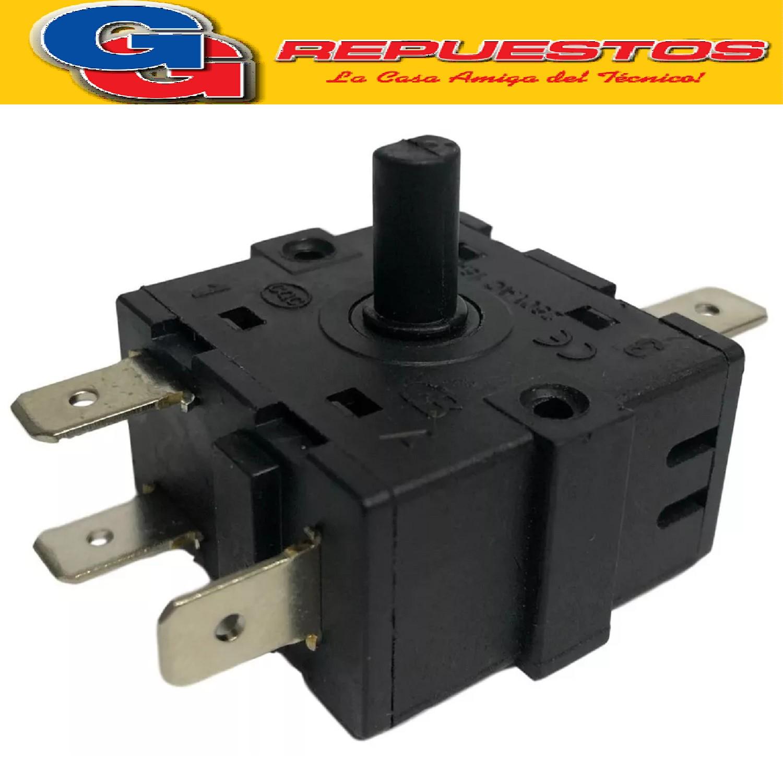 INTERRUPTOR CONMUTADOR HORNO ELECTRICO LLAVE SELECTORA 4 PUNTOS 5 CONTACTOS 16 A 250 V