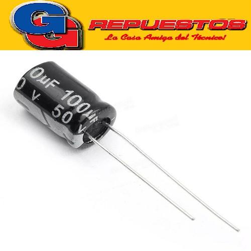 CAPACITOR ELECTROLITICO 100uFX50V Rad. (8x14mm) 105ºC