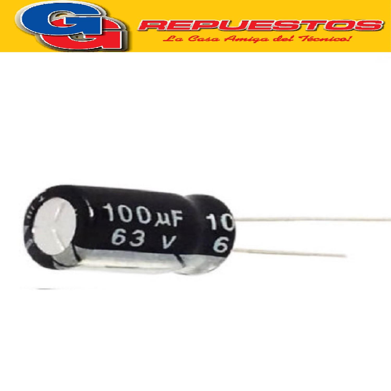 CAPACITOR ELECTROLITICO 100uFX63V Rad. (8x16mm) 105ºC