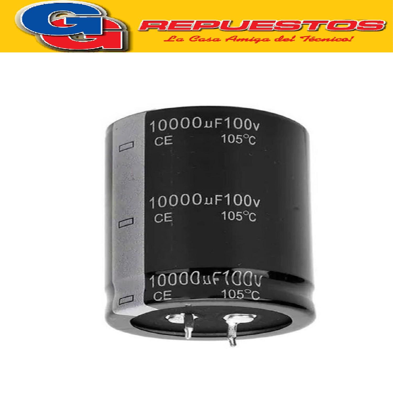 CAPACITOR ELECTROLITICO 10000uFX100V (35x75mm) Blindado