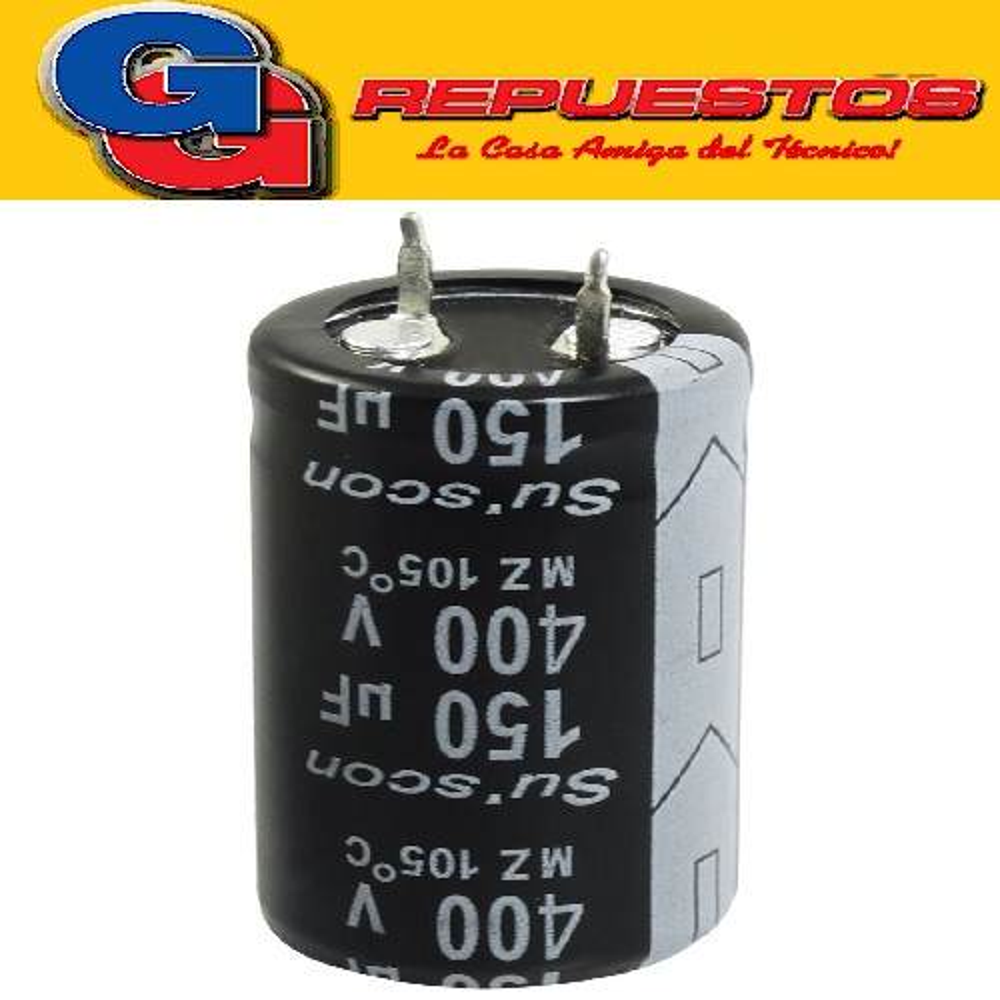 CAPACITOR ELECTROLITICO 150uFX400V (22x35mm) Blindado