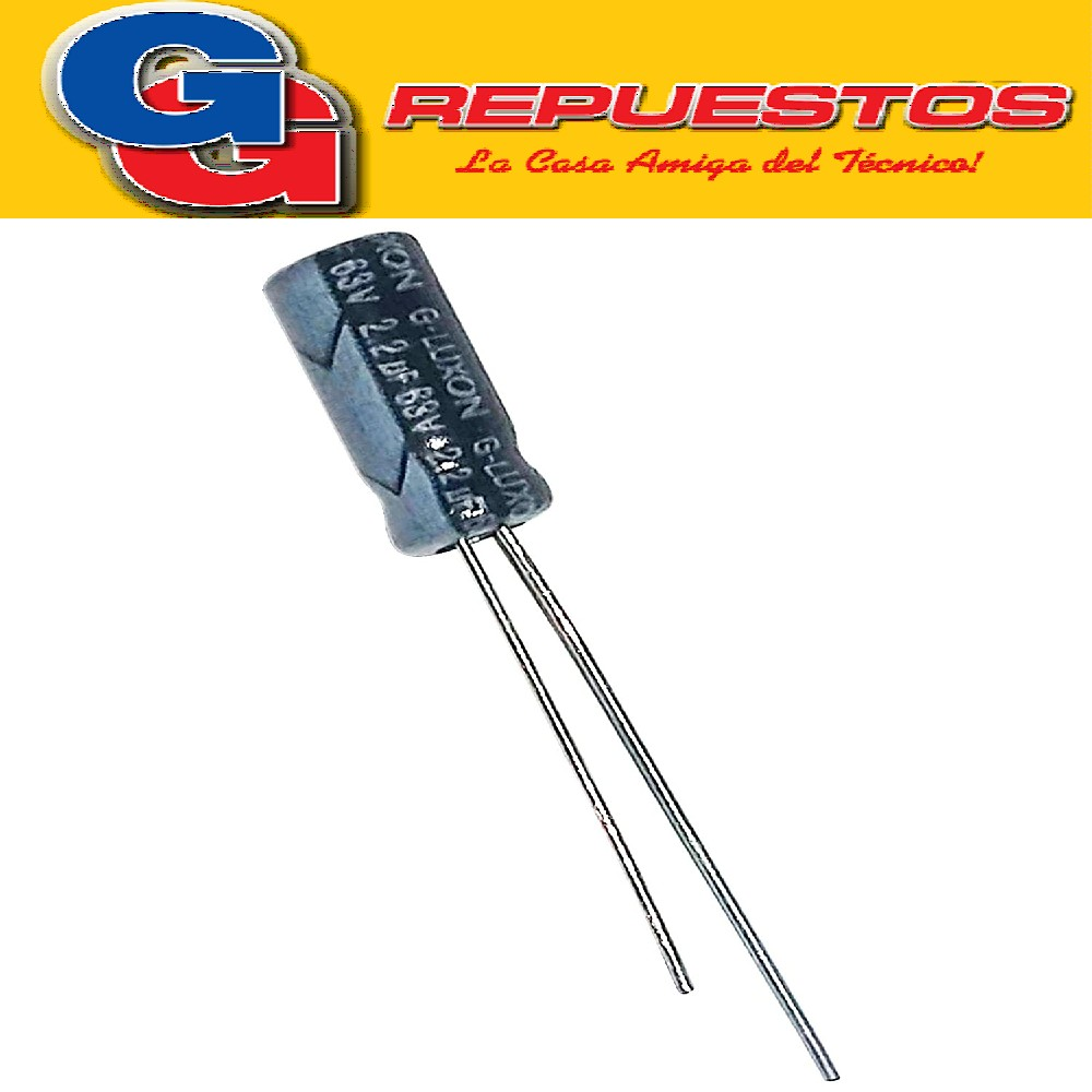 CAPACITOR ELECTROLITICO 2.2uFX63V RADIAL (5 x 11mm)
