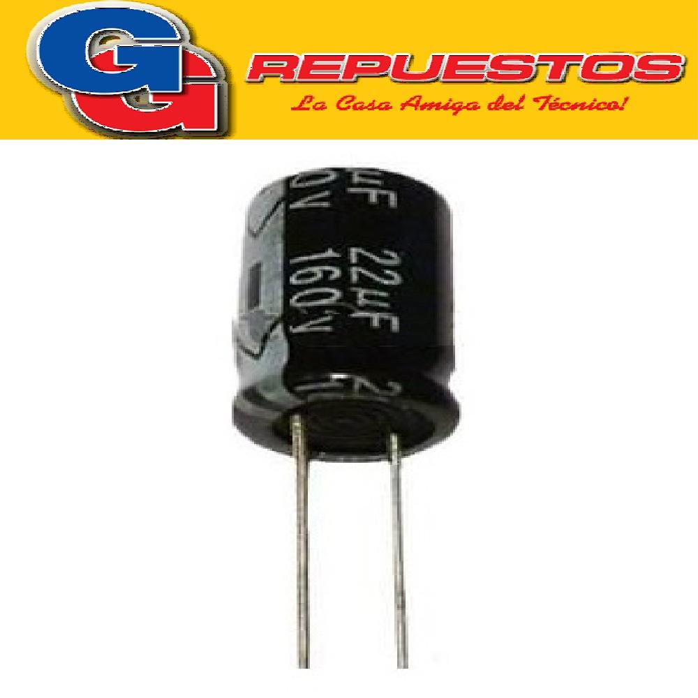 CAPACITOR ELECTROLITICO 22uFX160V RADIAL