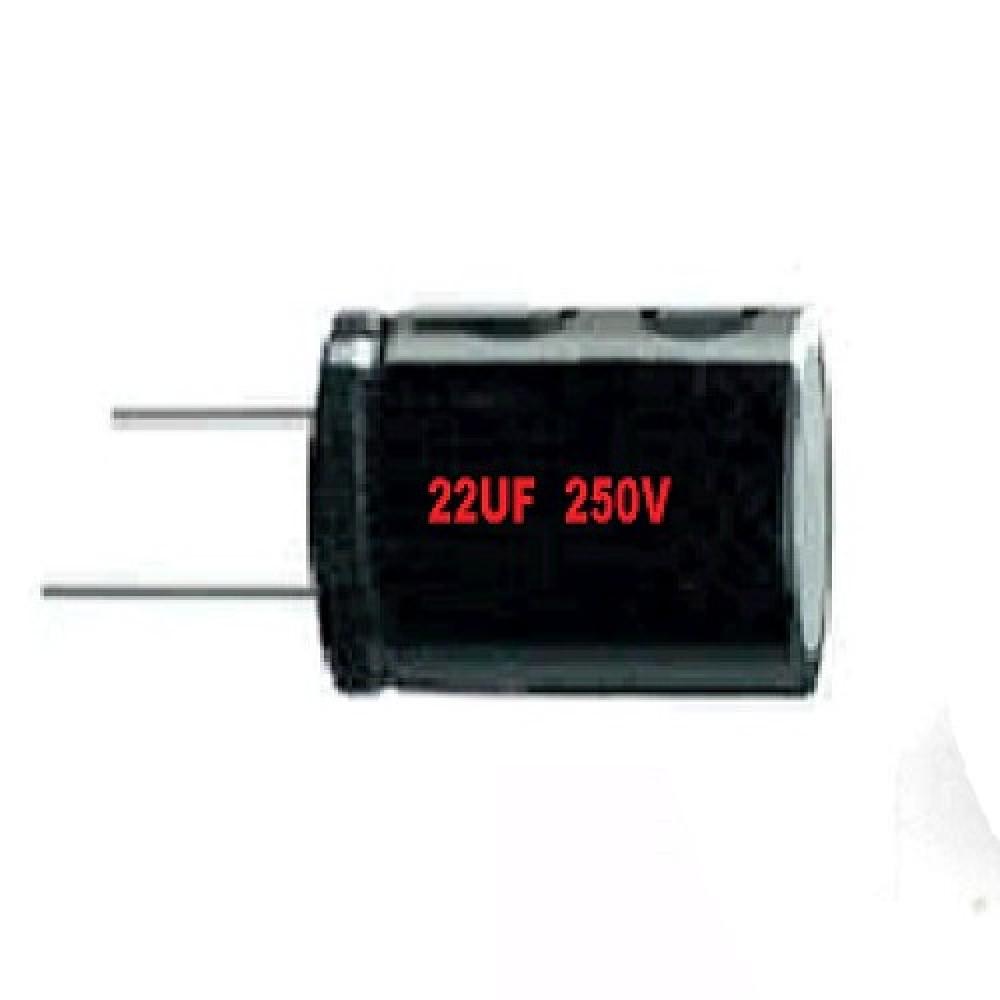 CAPACITOR ELECTROLITICO 22uFX250V RADIAL