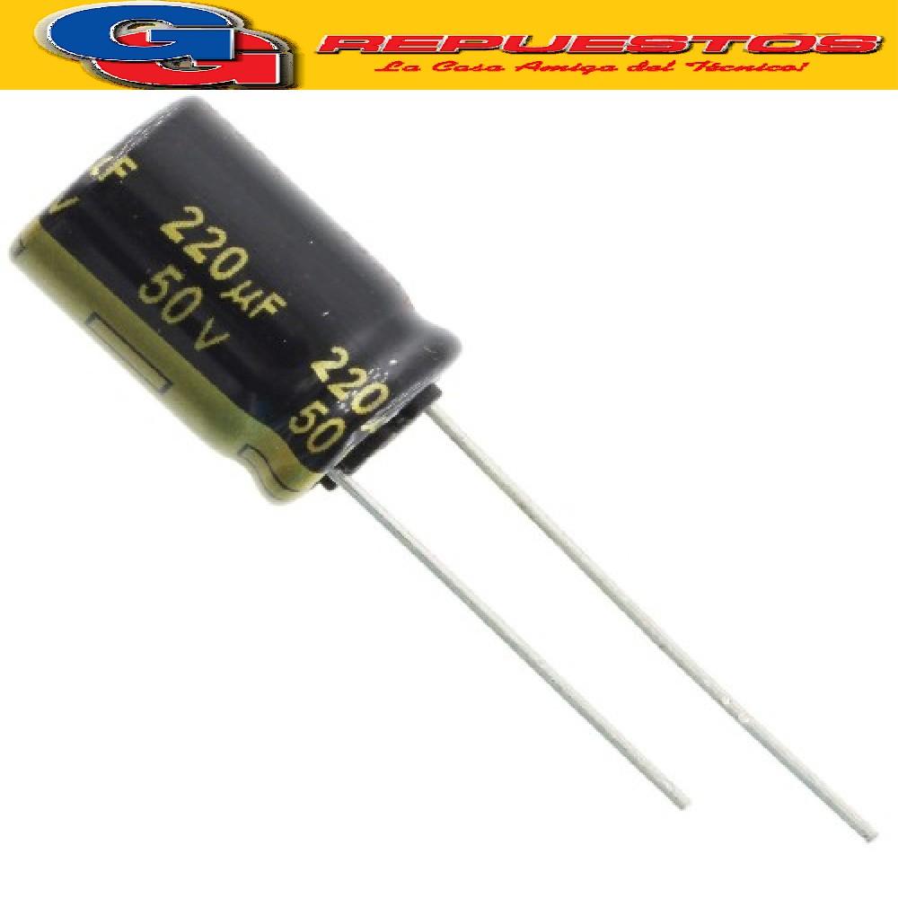 CAPACITOR ELECTROLITICO 220uFX50V Rad. (10x16mm) 105ºC