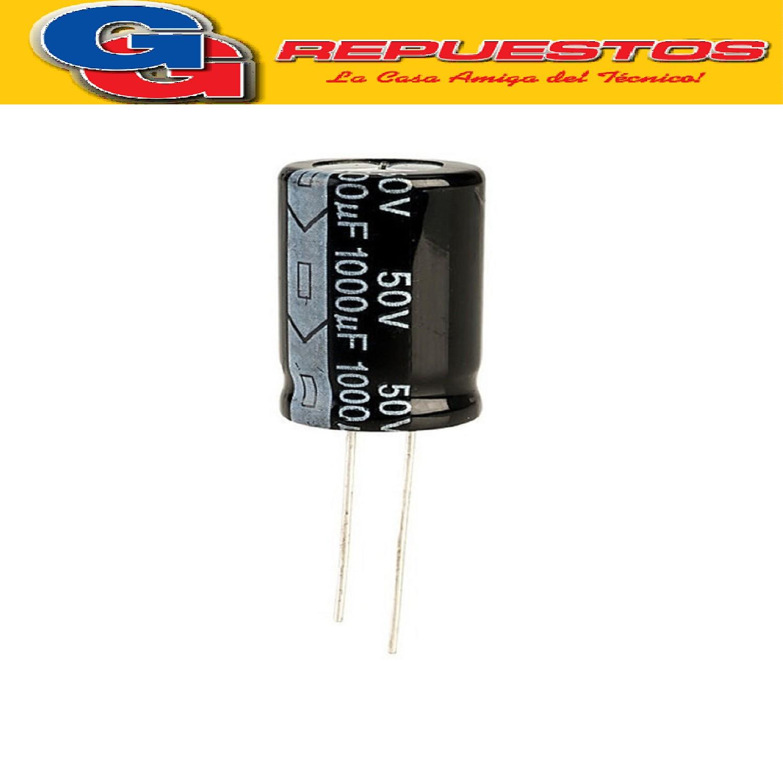 CAPACITOR ELECTROLITICO 1000uFX50V RADIAL (13x25mm)