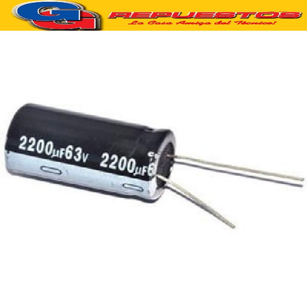 CAPACITOR ELECTROLITICO 2200uFX63V RADIAL (20 x 42mm)