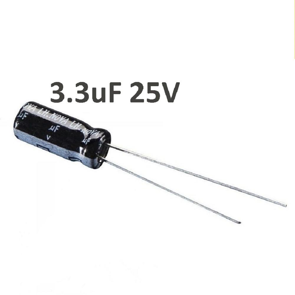 CAPACITOR ELECTROLITICO 3.3uFX25V RADIAL