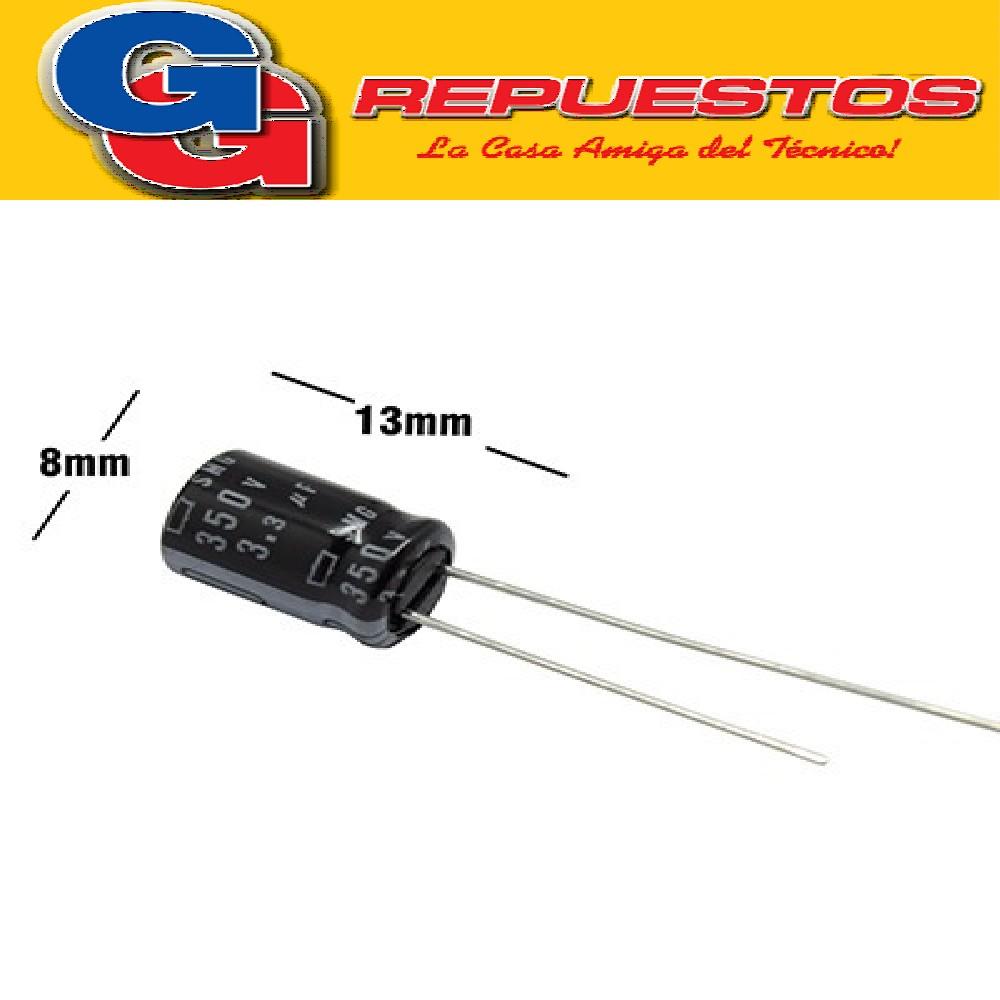 CAPACITOR ELECTROLITICO 3.3uFX350V RADIAL