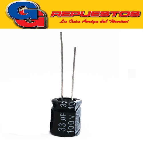CAPACITOR ELECTROLITICO 33uFX100V RADIAL (8 x 14mm)
