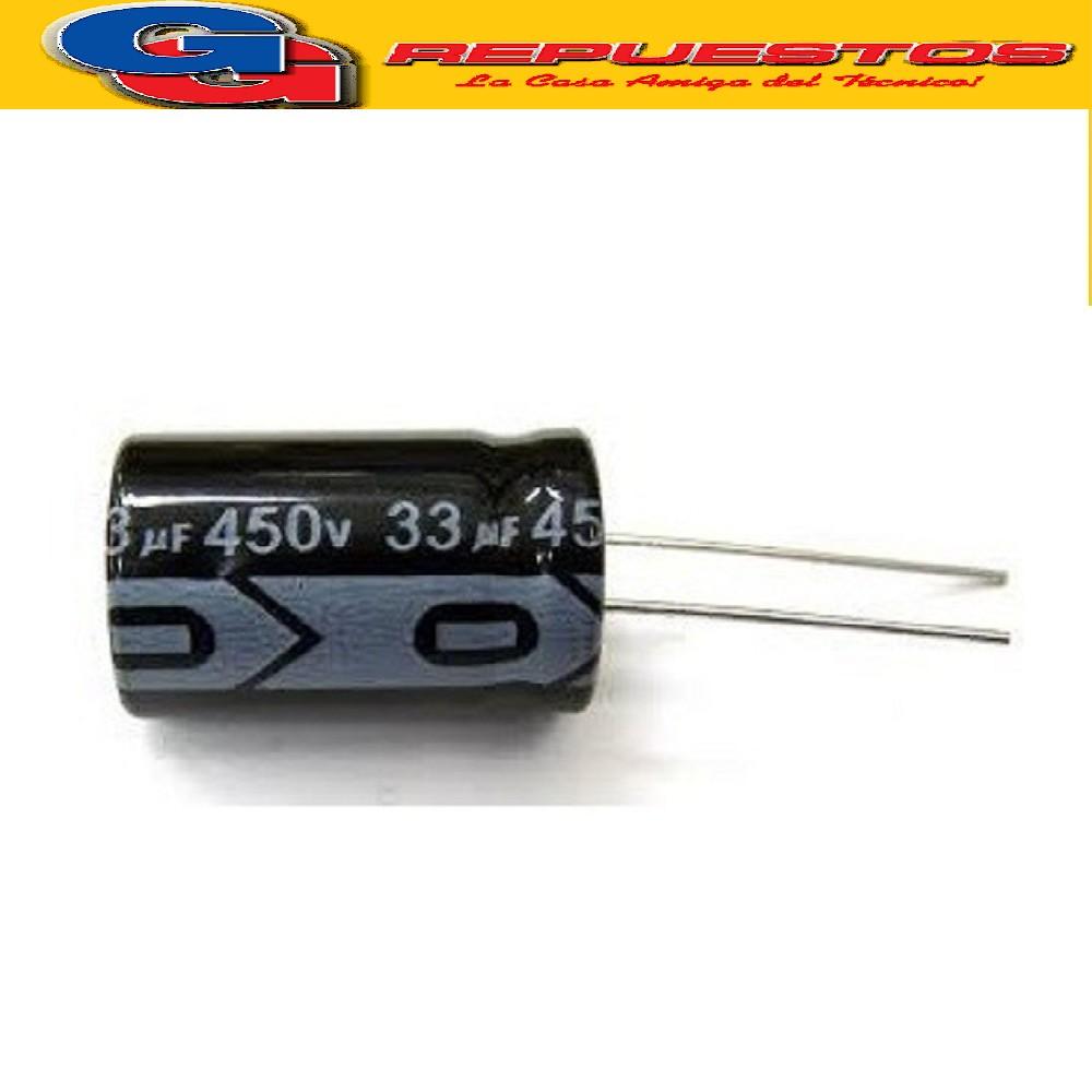 CAPACITOR ELECTROLITICO 33uFX450V RADIAL
