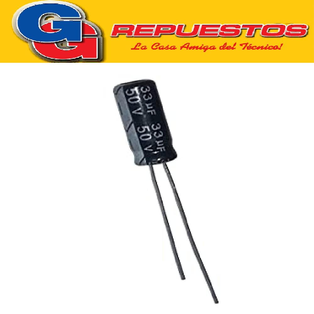 CAPACITOR ELECTROLITICO 33uFX50V RADIAL (6,3 x 11mm)