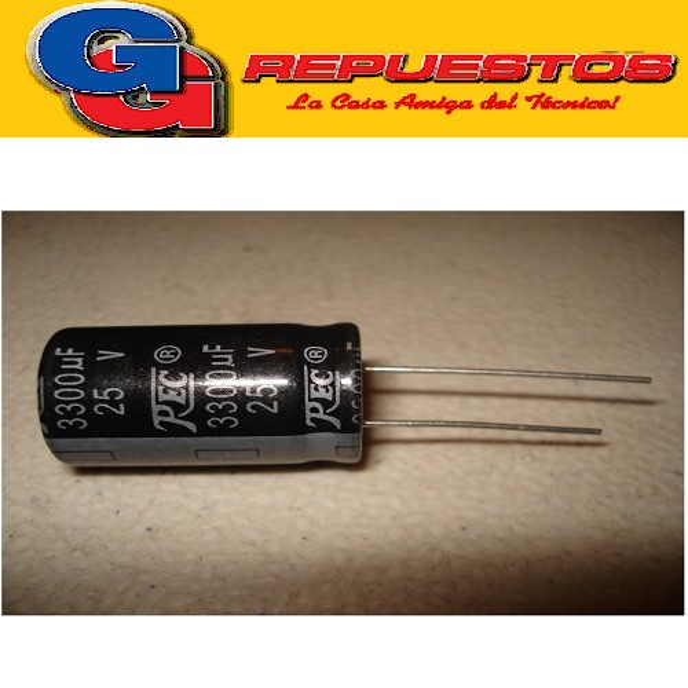 CAPACITOR ELECTROLITICO 3300uFX25V RADIAL (16 x 26mm)