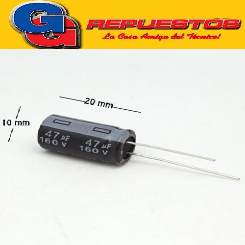 CAPACITOR ELECTROLITICO 47uFX160V RADIAL