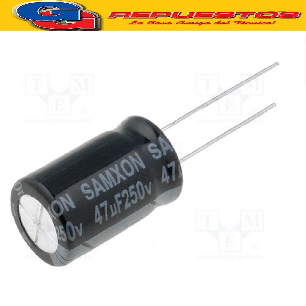 CAPACITOR ELECTROLITICO 47uFX250V RADIAL