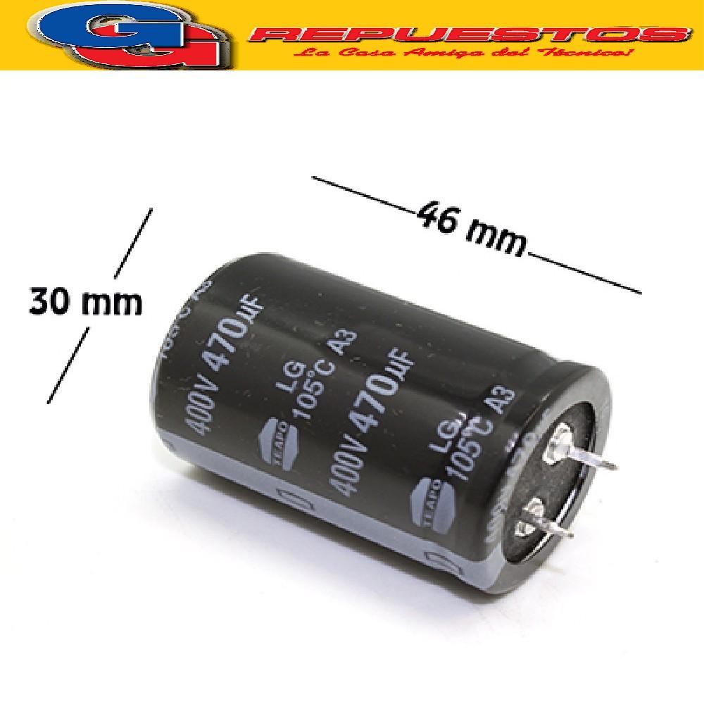 CAPACITOR ELECTROLITICO 470uFX400V (35x40mm) Blindado