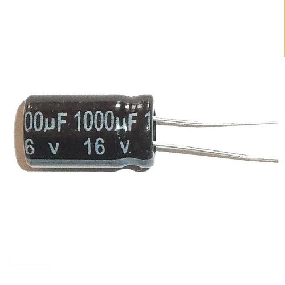 CAPACITOR ELECTROLITICO 1000uFX16V Rad. (10x16mm) 105ºC
